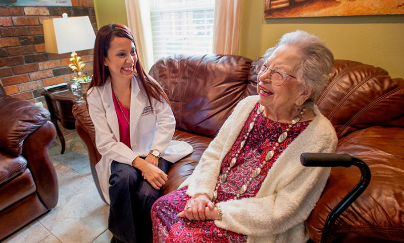 hospice nursing with patient