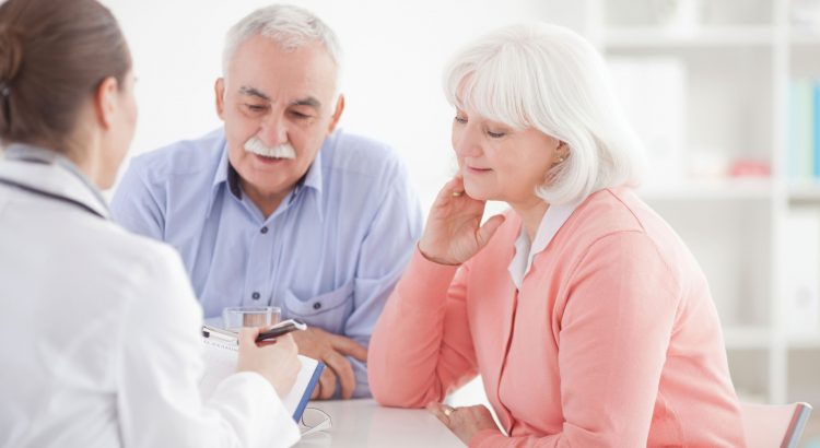 Hospice consult with a doctor